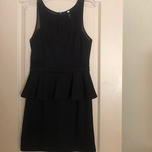 Kensie Peplum Black Dress - M